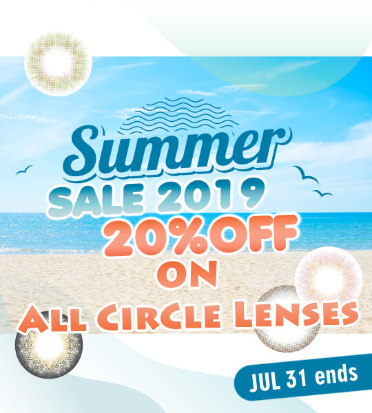 summer promotion all circle lenses 20% off
